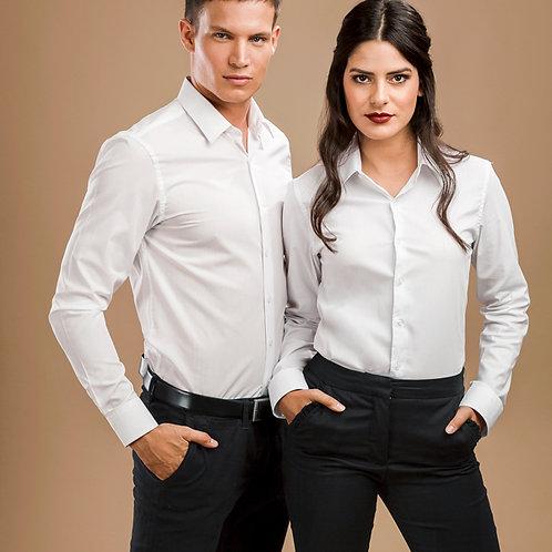 Herren und Damen Popeline Hemd/Bluse