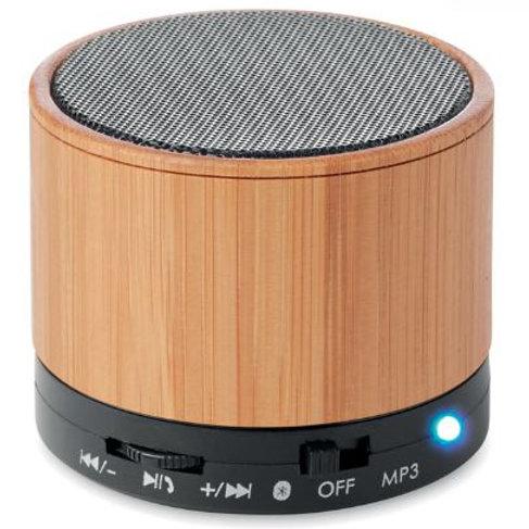 4.2 Bluetooth Lautsprecher aus ABS und Bambusdekor