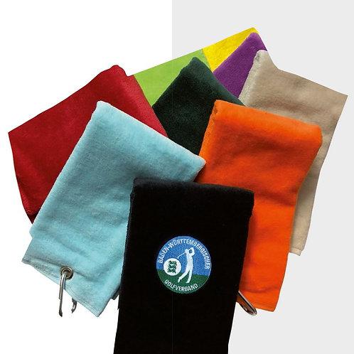Golftücher 3-lagig gefaltet, inkl. Stickerei