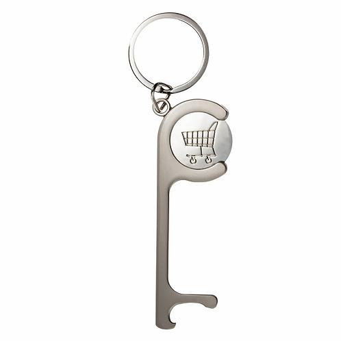 Schlüsselanhänger REFLECTS-MY-CADDY-DISTANCE matt-silver finish