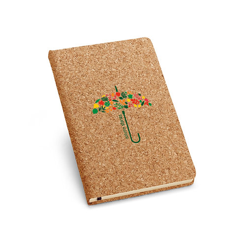 Umweltfreundliches Notizbuch aus Kork