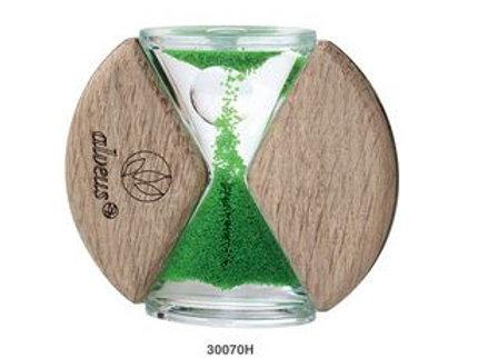 Sanduhr nach oben laufend aus Echtholz
