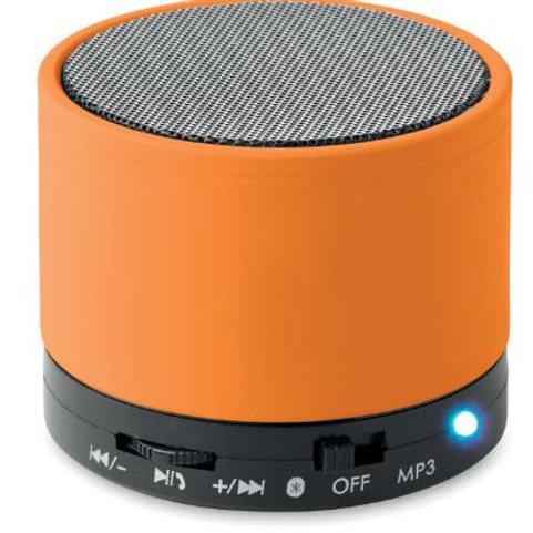 Runder 4.2 Bluetooth Lautsprecher aus ABS in gummiertem Finish