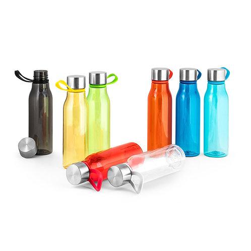 Trinkflasche (590 ml) aus recyceltem Kunststoff, rPET.