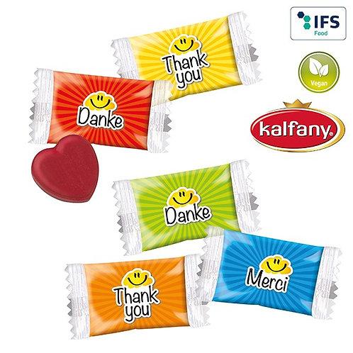 Herz Bonbons im Danke Standardflowpack