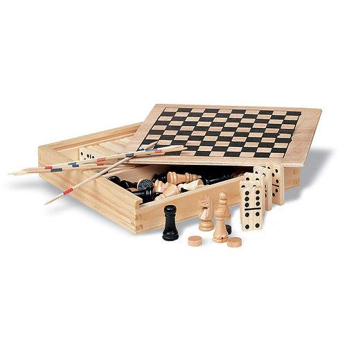 Spielesammlung in Holzbox