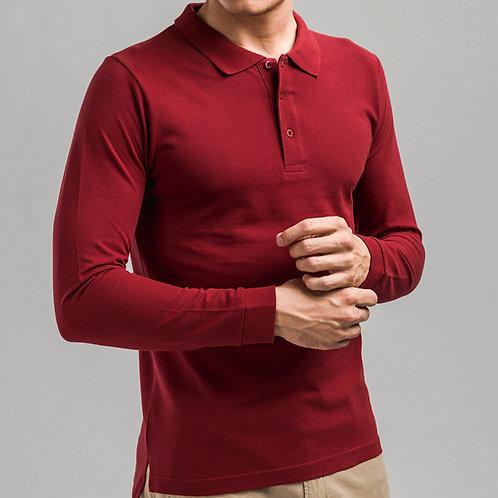 BERN. Herren Langarm-Poloshirt