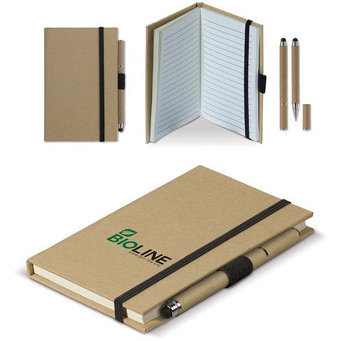 Karton Notizbuch A6 + Stift