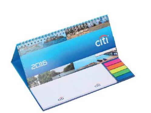 Kalender mit Haftnotizblöcke