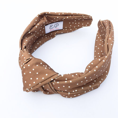 Everyday Easy Hairband - Cognac Dot