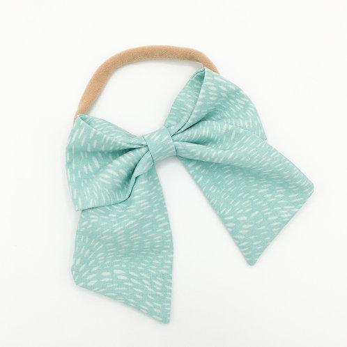 Turquoise Fleck Sailor Bow