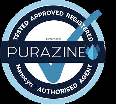 Purazine TGA Seal Round_150mmD_Blue FINA