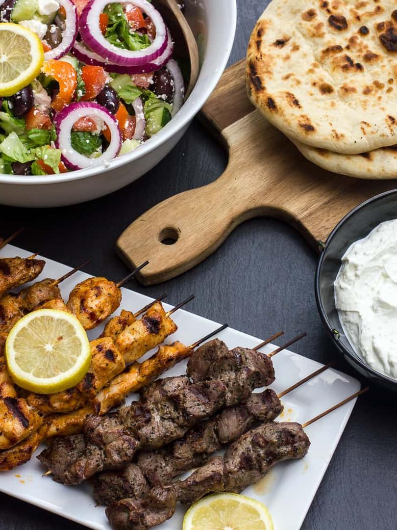 Grilled-Greek-Souvlaki-Lamb-Chicken-Pork