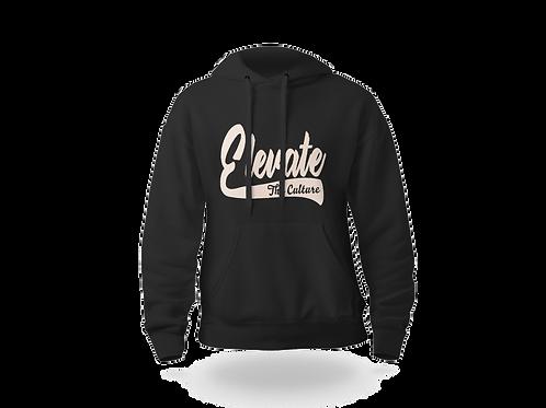 Elevate The Culture (Flock) - Black/Cream Hoodie
