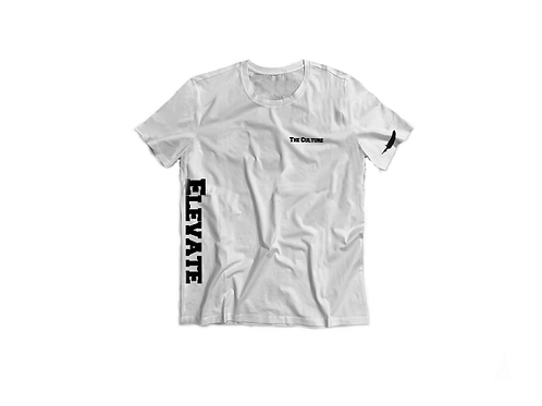 White Elevate The Culture Short Sleeve