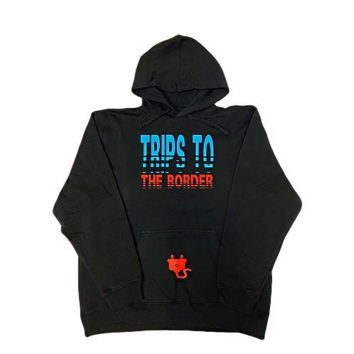 Trips To The Border Hoodie - Black