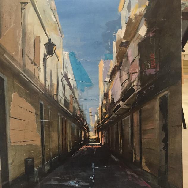 """Premio """" Nuevos talentos """" XX concurso de pintura Universidad de Cádiz."""