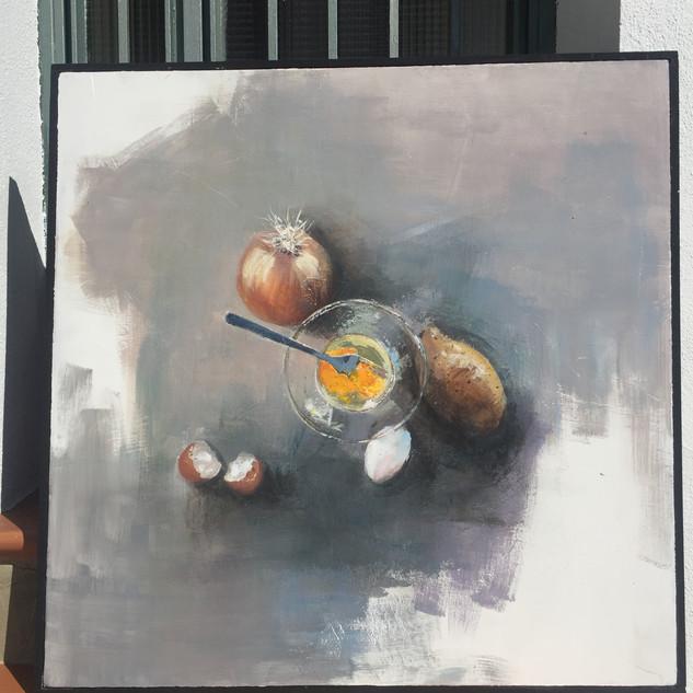 3er premio  Concurso de Pintura de Bodegón al Aire Libre 'Plaza de San Antón'.