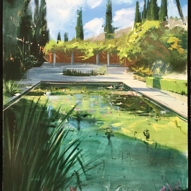 3er premio XI Concurso de Pintura de la Asociación de Amigos del Jardín Botánico Histórico La Concepción, Málaga.