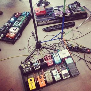 Shoegaze #rehearsal #pedalboards #newson