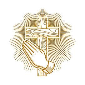 church-logo-christian-symbols-hands-fold