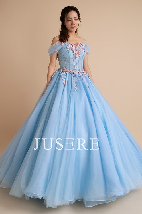 Free shipping big promotion monthly sale blue princess evening dress quincenera