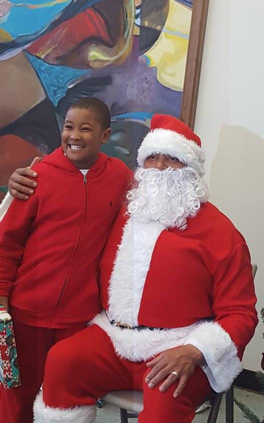Kid Smiles With Santa