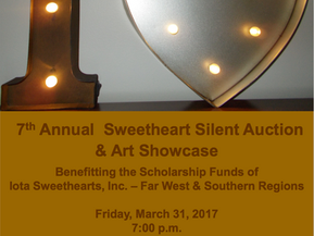 7th Annual Iota Sweetheart Silent Auction and Art Showcase