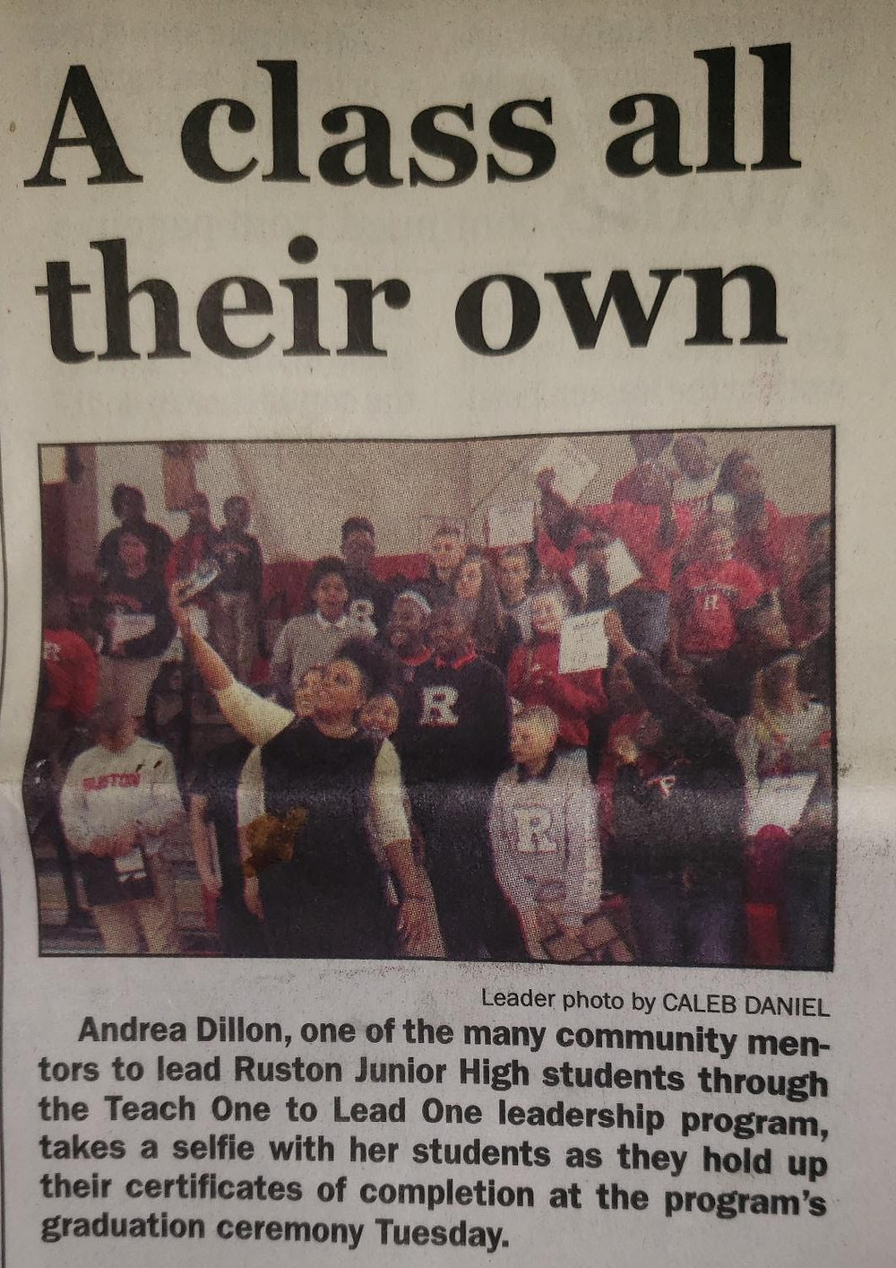 Photo taken from the Ruston Daily Leader