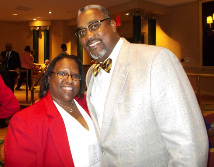 Southern Region VP Sweetheart Letitia Ivey and Iota Phi Theta Executive Director Bro. Kevin Bennett