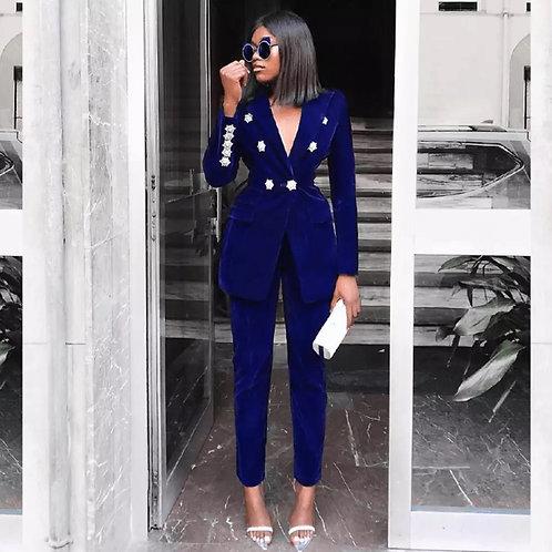 Royal Blue Velvet suit