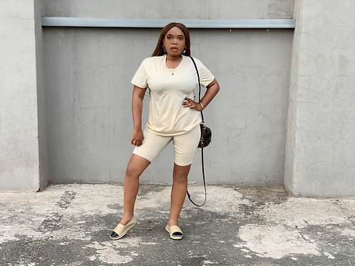 The casual not so casual lounge T-Shirt and shorts set