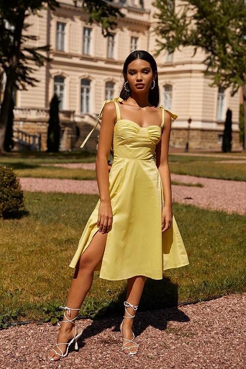 Khanya yellow midi dress