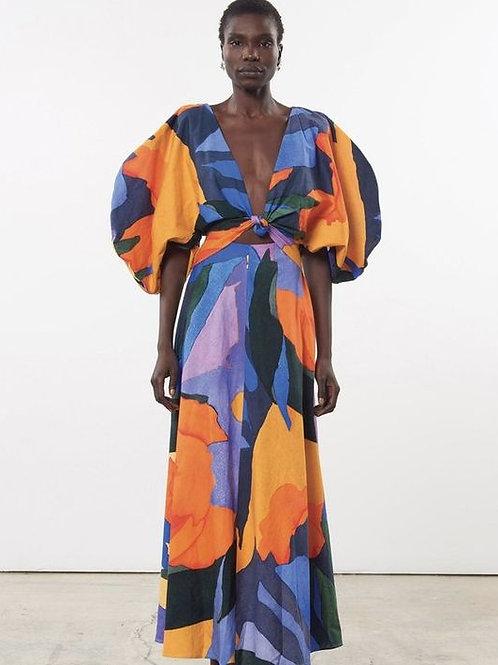 Alinah cut out print summer dress SS20/21