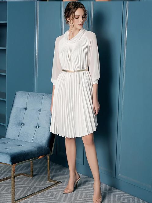 Martha Lantern Sleeve pleated Dress