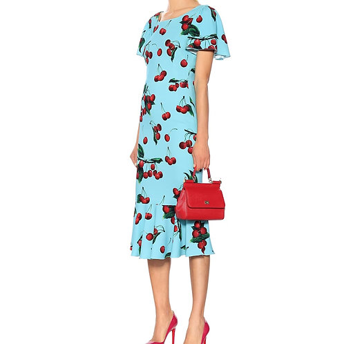 Cherry print mermaid dress
