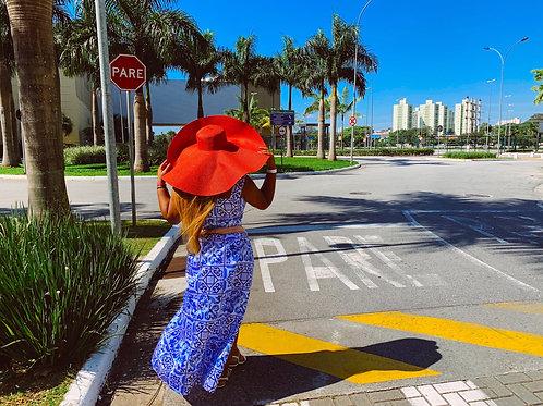 Red summer hat