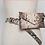 Thumbnail: Tan snake skin waist bag belt
