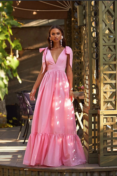 Lethu Pink Maxi dress