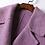 Thumbnail: Lilac Collar Long Sleeve Double Breast Coat