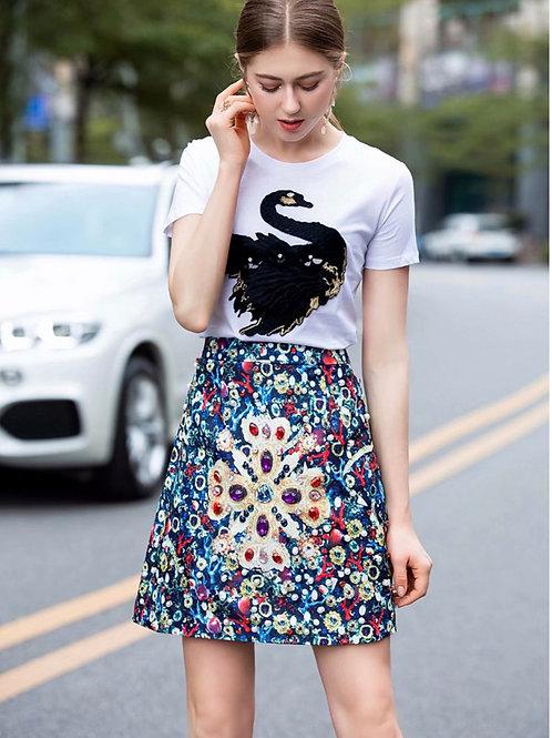 Jewel mini skirt