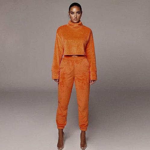 Burnt Orange luxury velvet winter set