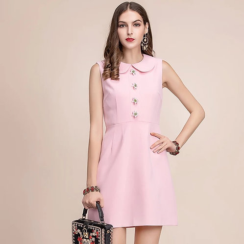 Alicia pink babydoll dress