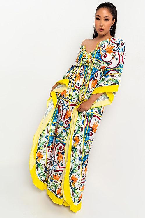Gabi Bat sleeve Maxi dress