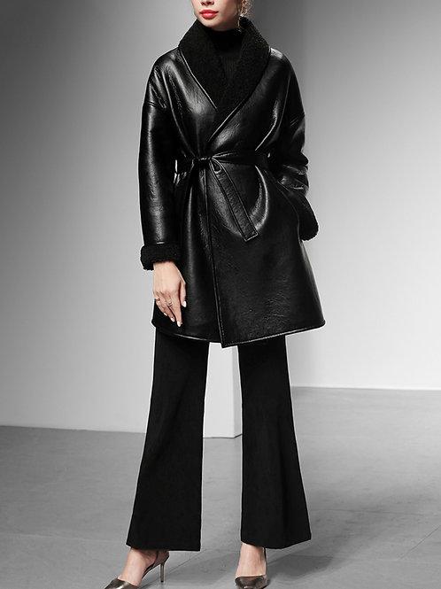 Luxury wrap leather jacket
