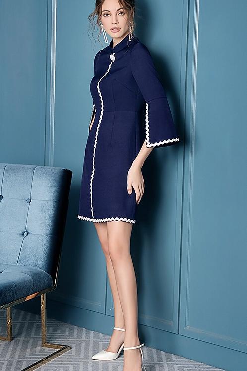 Alara Navy Blue Dress