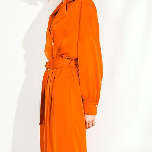 Orange silk jumpsuit