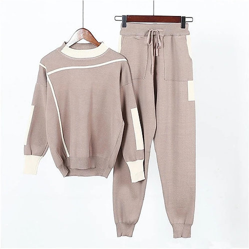 Tan knit loungewear