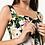 Thumbnail: Lily print green midi  dress