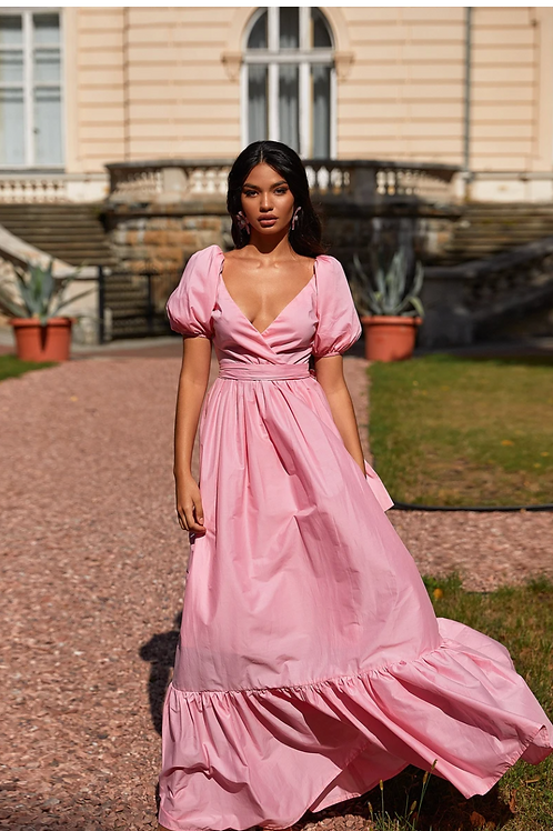 Gugu Pink Maxi Dress